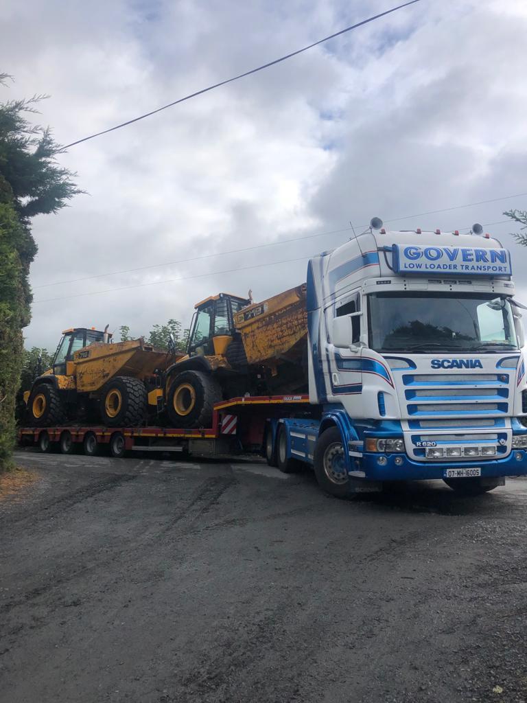 2 x JCB 718 dumpers sold to customer in Australia