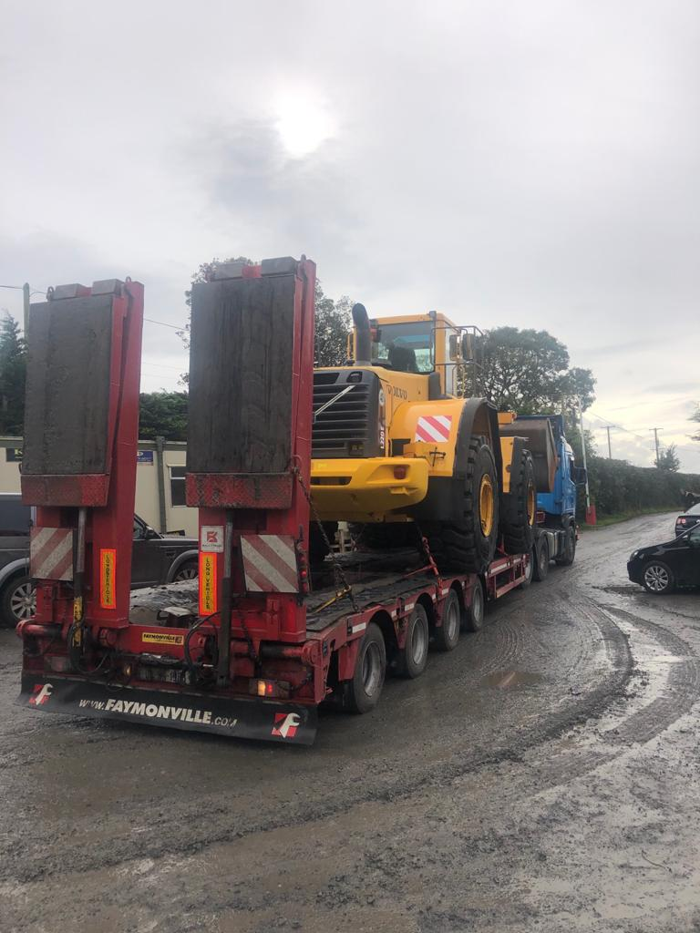 Refurbished Volvo L220E sold to Riddle Bros Quarry, Co.Tyrone