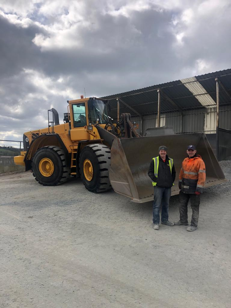 Volvo L180E sold to King Bros Quarry, Co.Armagh