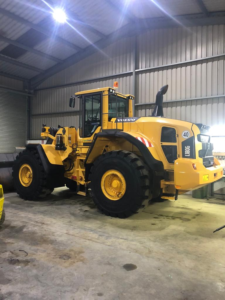 Volvo L180G sold to Atlantic Plant Hire & Crushing Ltd, Co.Clare