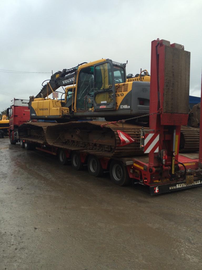 2 x Volvo EC140Blcm swamp track excavators sold to customer in Finland