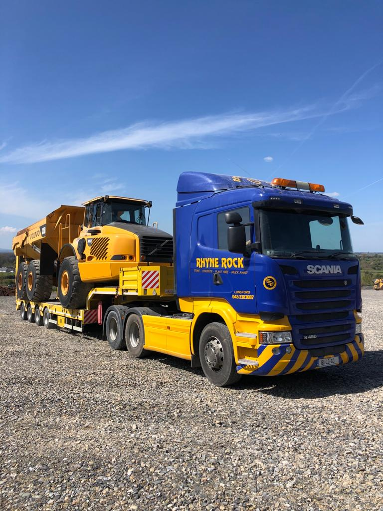 Volvo A35D sold to Ryne Rock Co.Longford
