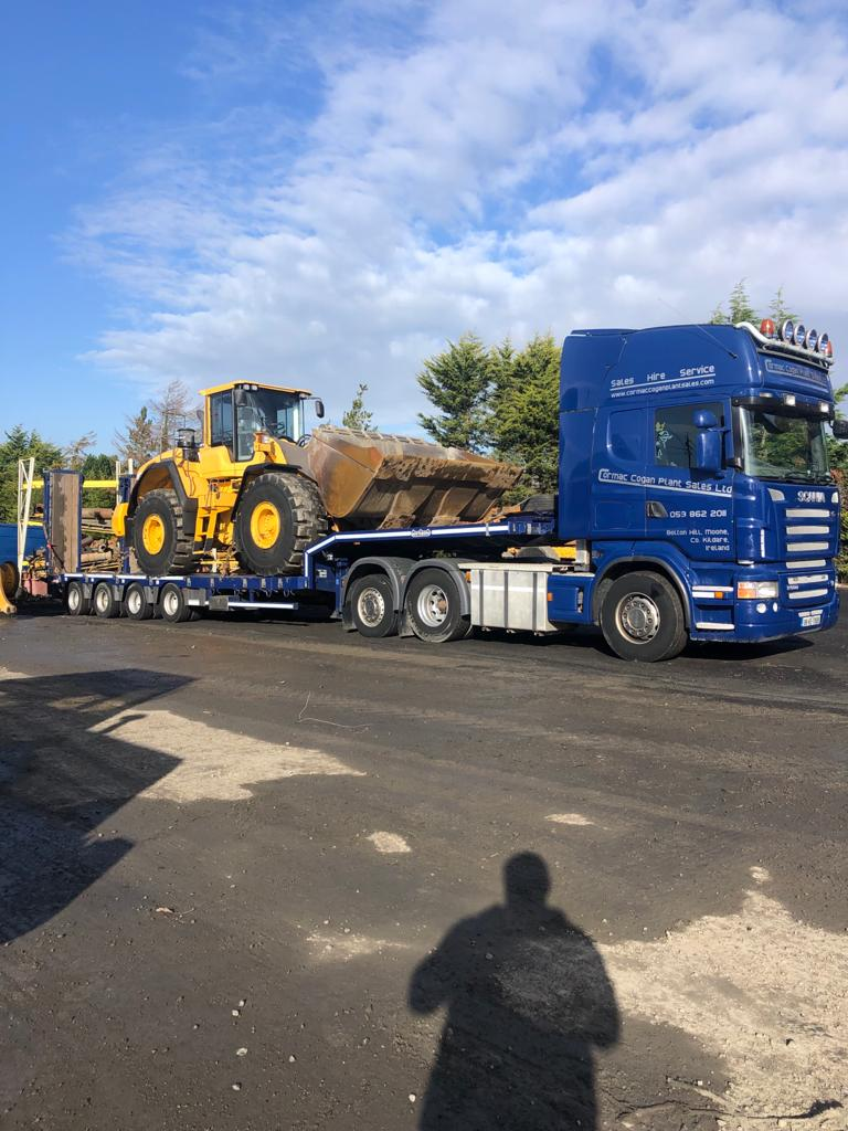 Volvo L180G sold to Ballyorgan Quarries Ltd Co.Limerick