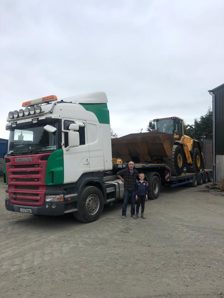 Volvo L180G sold to Gannon Bros Creggs Ltd in Co.Galway