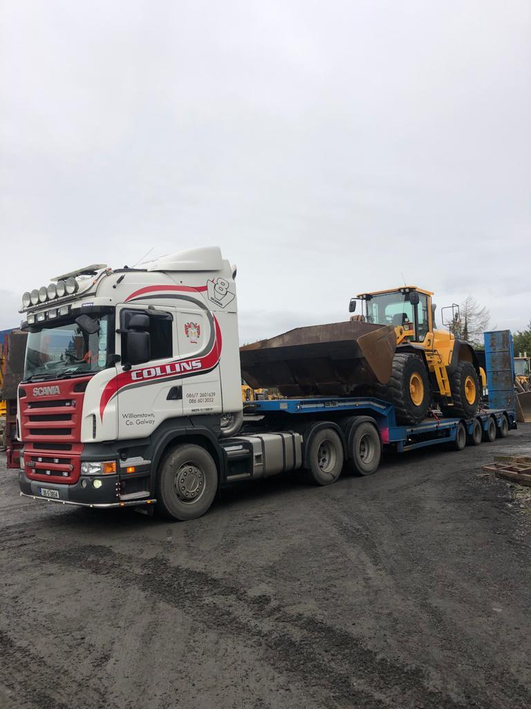 Volvo L180G sold to Thomas Collins Plant Hire Ltd in Galway