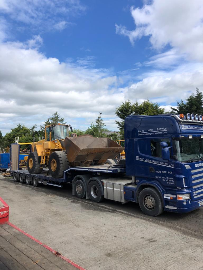 Volvo L180E sold to Moneydurtlow Quarries Ltd, Co.Wexford