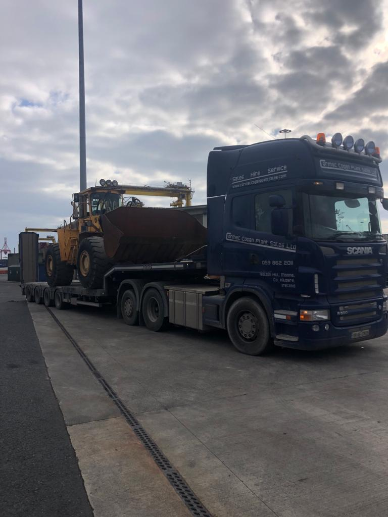 Volvo L160 sold to a customer in South America