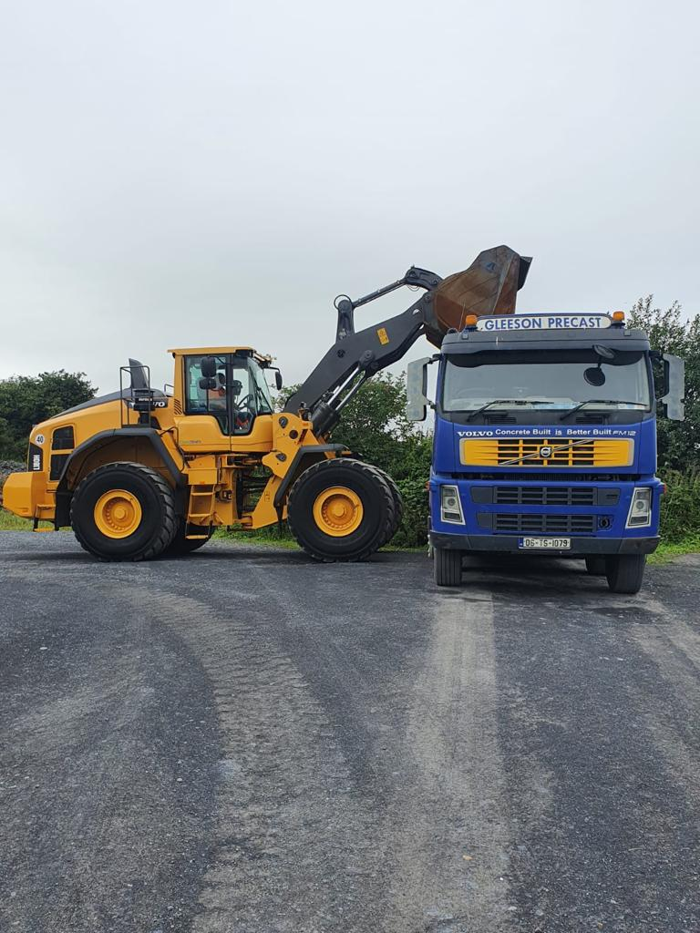 Volvo L180H sold to Gleeson Precast an Cashel, Co.Tipperary